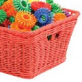 Alt Thumbnail #1 of Small Plastic Wicker Basket - Red - Each