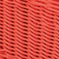 Alt Thumbnail #2 of Small Plastic Wicker Basket - Red - Each