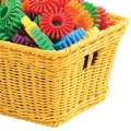 Alt Thumbnail #1 of Small Plastic Wicker Basket - Yellow - Each