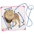 "Alternate Thumbnail Image #1 of Realistic Zoo Animal Images on 6"" Lacing Boards - Set of 4"