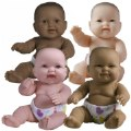 "Thumbnail of 14"" Lots to Love Babies with Different Skin Tones and Poseable Bodies - Set of 4"