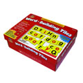 Grades K - 2. 233 magnetic foam tiles include 168 upper and lowercase black consonants, 60 upper and lowercase red vowel tiles, 5 punctuation tiles and a 32 page teaching guide.