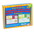 Grades K - 1. 26 alphabet activities! Children match, trace and write the letters of the alphabet and some simple words that correspond to the picture cards for each letter. Kit contains 52 solid color foam upper and lower case letters with 26 corresponding color picture cards. 13 colorful 2-sided wipe-off learning mats, and teaching guide with extension activities.