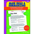 This book provides the practice students need to master the reading skills of summarizing and finding the main idea. The 35 reproducible pages in this book feature high-interest nonfiction reading passage with short-answer practice questions that target one of these essential reading comprehension skills. Also includes model lessons, assessments, and an answer key. 48 pages.