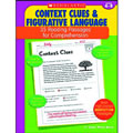 This book provides the practice students need to master the reading skills of using context clues and understanding figurative language. The 35 reproducible pages in this book feature high-interest nonfiction reading passage with short-answer practice questions that target one of these essential reading comprehension skills. Also includes model lessons, assessments, and an answer key. 48 pages.