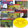 Interest Level: K-3. Reading Levels: N-R. Colorful photographs and easy-to-read text draw readers in as they take an up-close look at fascinating species in 12 different environments. 12 books, 16 pages each.
