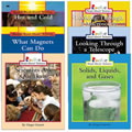 The natural world comes alive for young readers with this science book set. With striking, full-color photos, and just the right amount of text, this series immediately involves students as they discover intriguing facts about the fascinating world around them. Includes six, 32 page paperbacks and is leveled for Grades 1 and 2 and meets Reading First funding requirements.