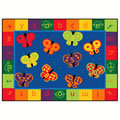 Thumbnail of 123 ABC Butterfly Fun Rectangle Rug 8' x 12'