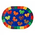 Thumbnail of 123 ABC Butterfly Fun Oval Rug 8' x 12'