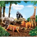 Alternate Image #2 of Jumbo Jungle Animals - Set of 5