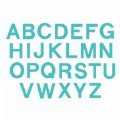 "Alternate Image #2 of Bigz Dies - 3 1/2"" Uppercase Block Letters (Set of 26)"