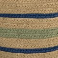 "Alternate Thumbnail Image #1 of Harwood Stripe Basket 18"" x 12"""