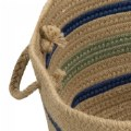 "Alternate Thumbnail Image #2 of Harwood Stripe Basket 18"" x 12"""