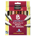 Multicultural Broad Tip Markers (12 Packs of 8-Count Markers)
