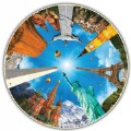 Main Image of Round Table Puzzle - Landmarks (500 Pieces)