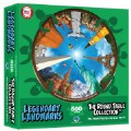 Alternate Image #1 of Round Table Puzzle - Landmarks (500 Pieces)