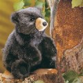 Alternate Image #2 of Baby Black Bear Hand Puppet