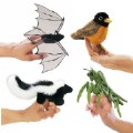 Mini Puppets Nature Birds, Animals and Bugs - Set of 4