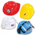 Dramatic Play Plastic Career Hats for Preschoolers - Set of 4