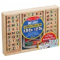 Alternate Image #1 of Wooden ABC 123 Stamp Set