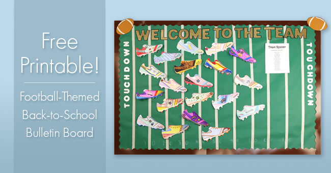Football-Themed Back-to-School Bulletin Board