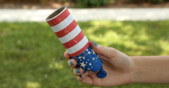DIY Confetti Poppers for Independence Day