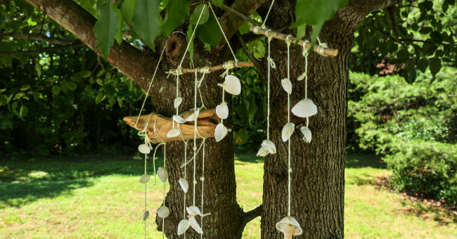 DIY Seashell Mobile Craft