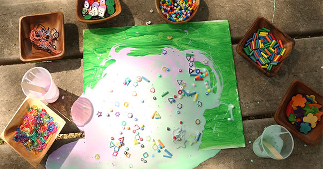 Dump Art Activity for Kids