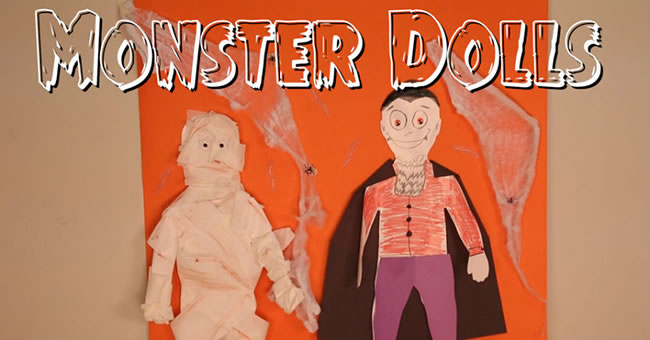 Halloween Crafts for Kids: Monster Dolls