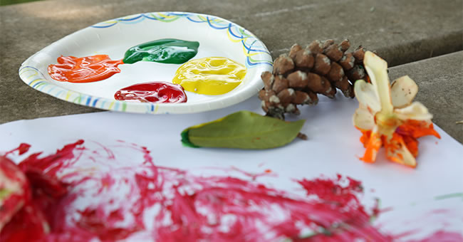 Nature Paintbrush Art Activity