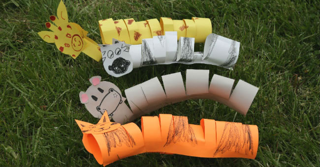 5-Minute Paper Slinky: Jungle Animals