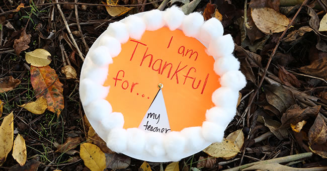 Thankful Pumpkin Pie Activity