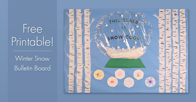 Winter Snow Bulletin Board