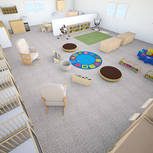 Infant Classroom Floor Plan - 3D