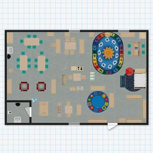 Classroom floorplanner for Preschool classroom floor plan