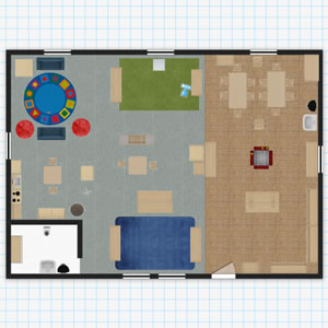 three year olds classroom floor plan - Floor Plan Planner