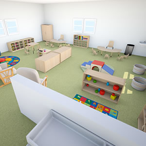 FloorPlanner Toddler Classroom 3D
