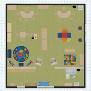 Toddler Classroom Floor Plan