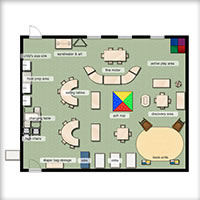 One Year Old Classroom Floorplan