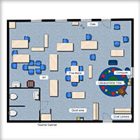 Three Year Old Classroom Floorplan