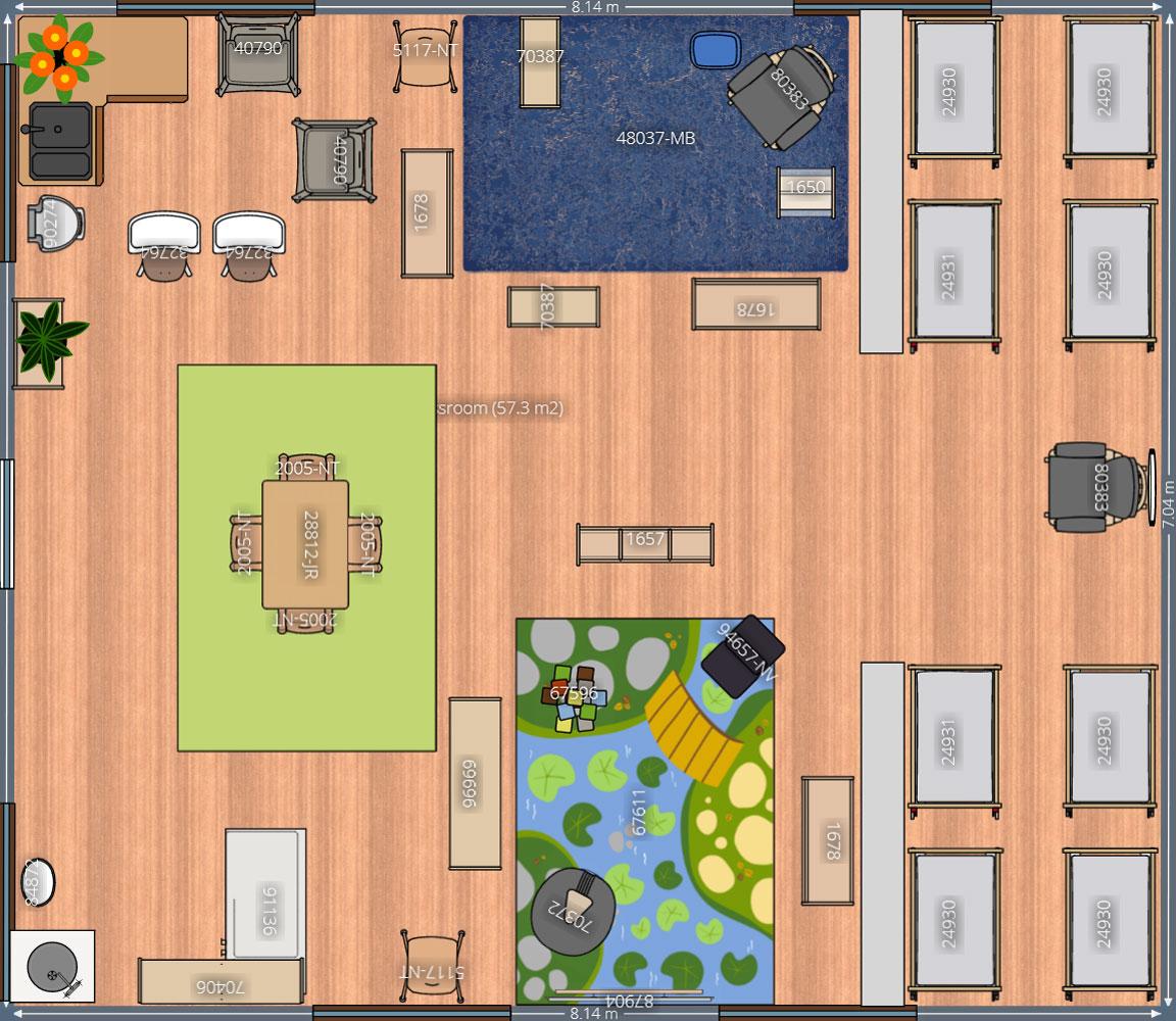 Sample Floor Plans For Daycare Center