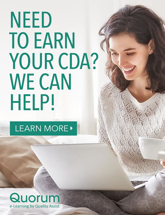 Need to earn your CDA? We can help!
